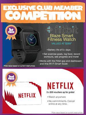 Win a FitBit Blaze Smart Watch or 1 of 5 Netflix Vouchers!