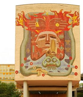"""""""Life, Death, Miscegenation and the Four Elements"""" 1954. Muralist: Francisco Eppenns"""
