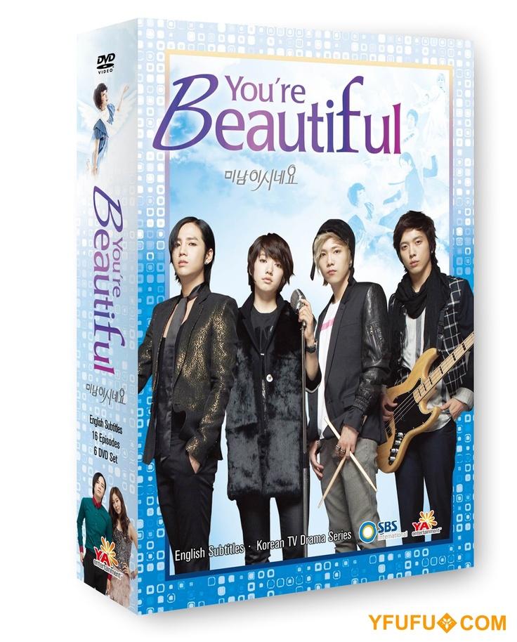 You're Beautiful Korean Drama DVD Boxset starring Jang Keun-Suk, Jung Yong-Hwa, Lee Hong-Ki and Park Shin-Hye.