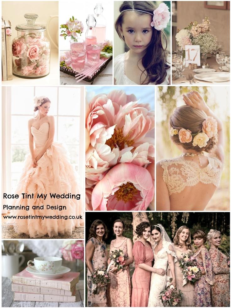 Rose tinted wedding inspiration. Blush and antique pink hues for a beautifully feminine look. visit www.rosetintmywedding.co.uk for more styling ideas and wedding planning help. #rosetintedwedding #blushwedding