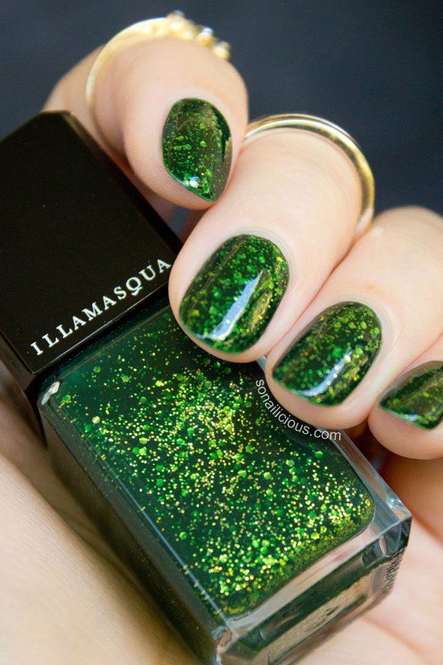 Stunning green nail polish - Illamasqua Destiny. #green #greennails