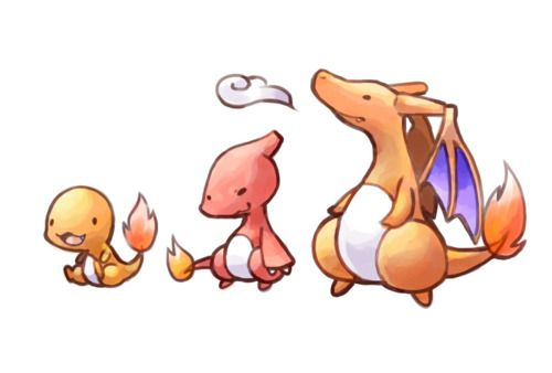 Cute Cartoon Charmander Evolutions