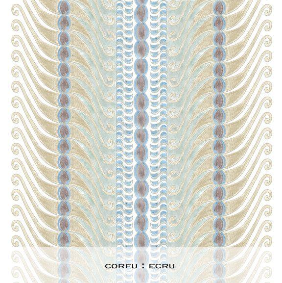 Corfu Print : Ecru – Ferranstore