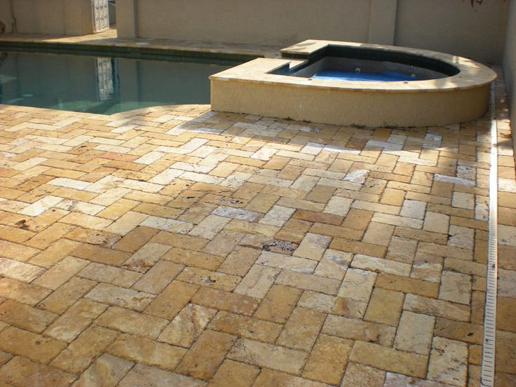 Unsealed Travertine Pool Deck U2013 Paver Sealing And Repair, Seal N .
