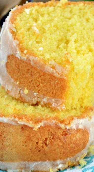 Sweet Creme Lemon Cake. Have EGG YOLKS left over. Use them in this cake.