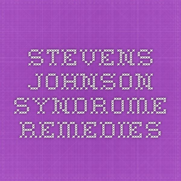 Steven Johnson Syndrome Natural Cure