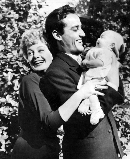 Shelley Winters, Vittorio Gassman and Vittoria,1953