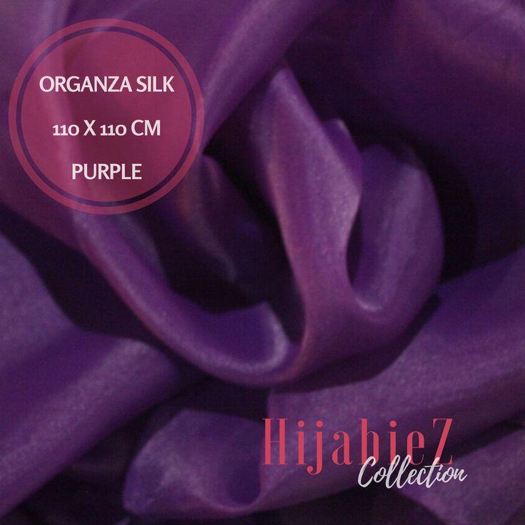 Jilbab Organza Silk Premium Purple