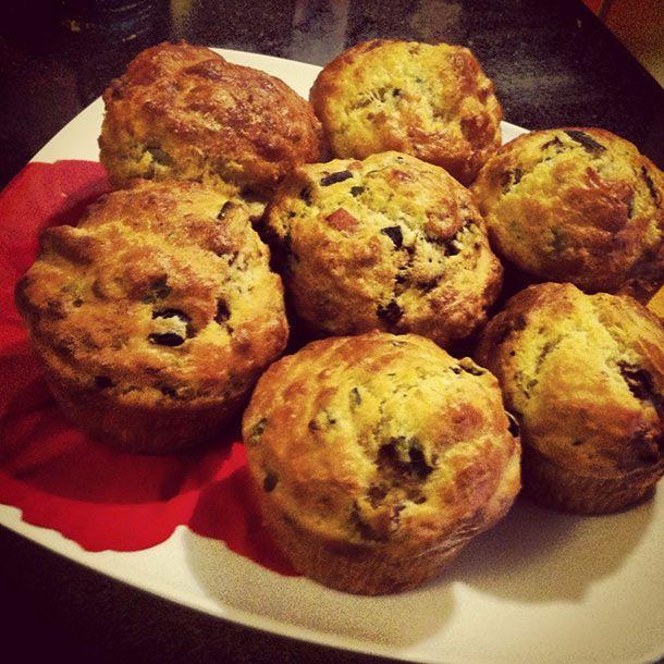 Muffin salati zucchine e speck #muffin #afuocolento #zucchine #speck