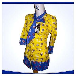 Blouse Batik Kuning ~ Koleksi Batik GaleriPos