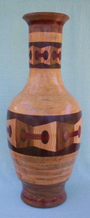 woodturning vase. 3d vase woodturning vase o
