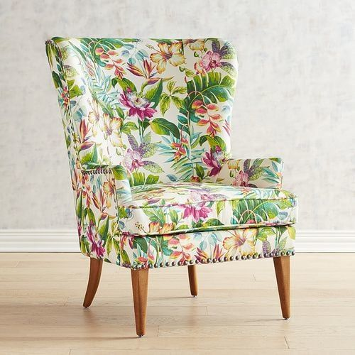Asher Flynn Floral Print Chair Xcellent Chairs In 2019
