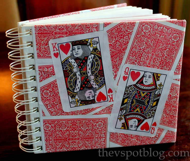 The V Spot: Handmade Valentine's Gift... a relationship timeline with play cards