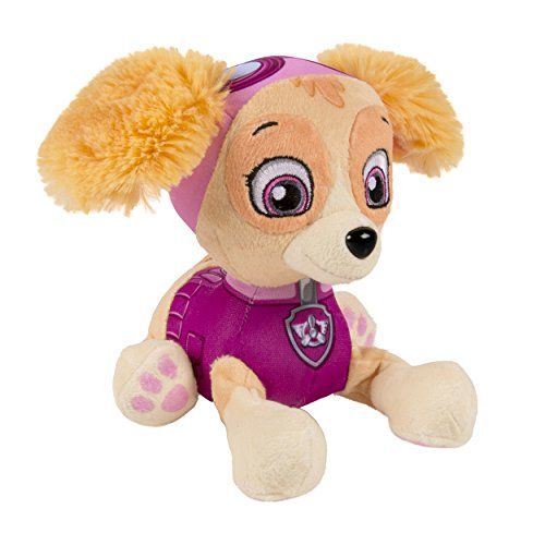 Nickelodeon, Paw Patrol - Plush Pup Pals- Skye  Paw Patrol Pup Pals are made from premium plush materials that are soft to the touch!  Collect all your favorite Pup Pals including Marshall, Rubble, Chase, Skye, Rocky, Zuma and Ryder!  Light up your child's imagination as they recreate their favorite moments from the hit Nickelodeon Kids show, Paw Patrol!  Paw Patrol Pup Pals save the day for kids ages 3+.  1 Plush Skye  Chase, Marshall, Rocky, Zuma, Rubble, and Skye, who are led by a t...