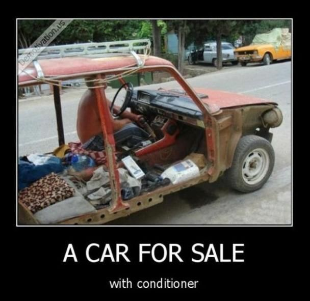 Joke asshole with car for sale