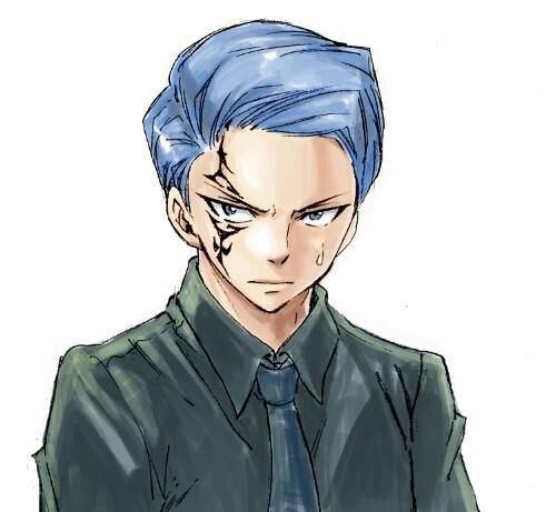 Jellal different hairstyle by Hiro Mashima! »»» I don't think Erza will like that style, though. He looks like some stuck-up banker, lol XD