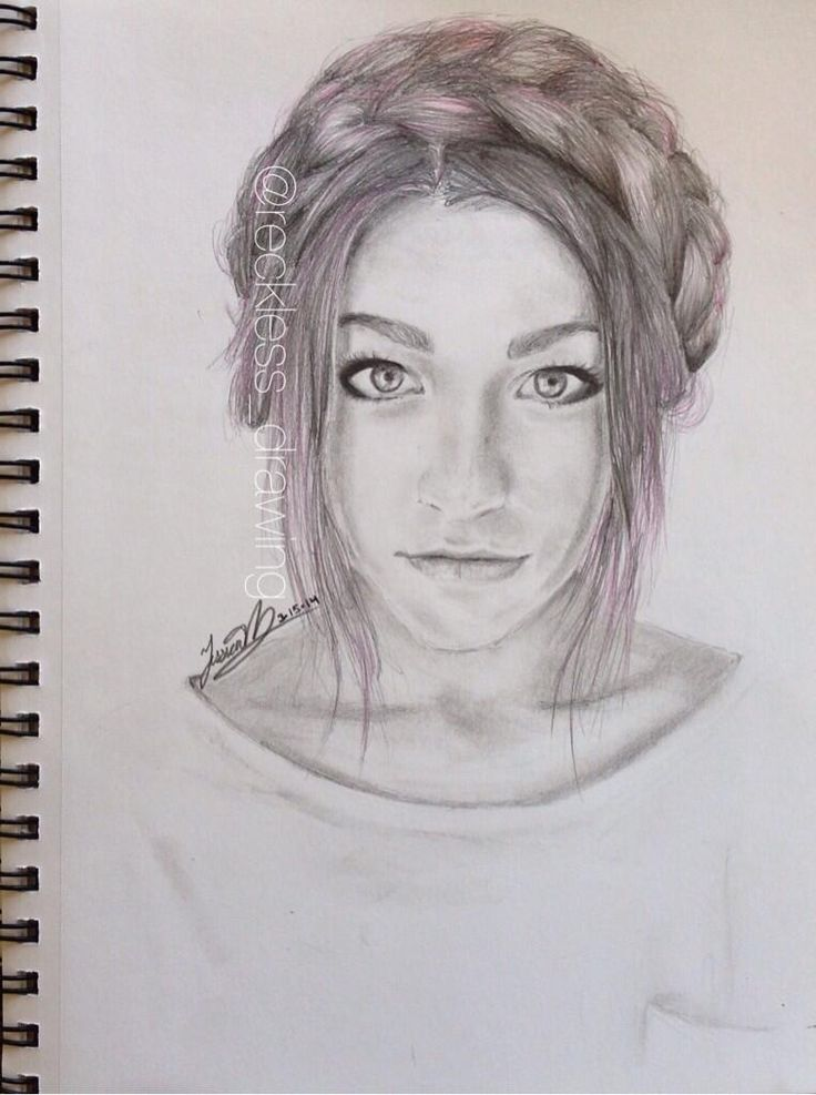 a drawing of andrea russett