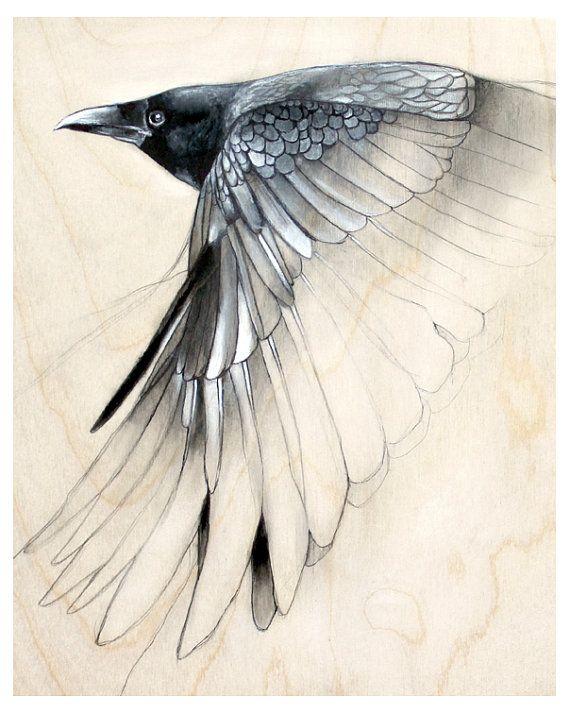 Raven Study No. 1 Art Print by TheHauntedHollowTree