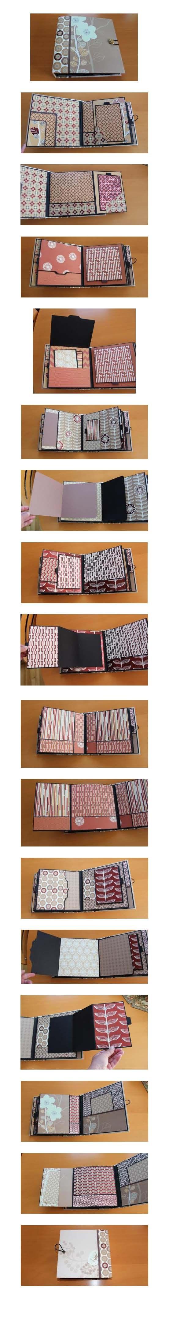 8x8 mini album; using DCWV Serenity papers