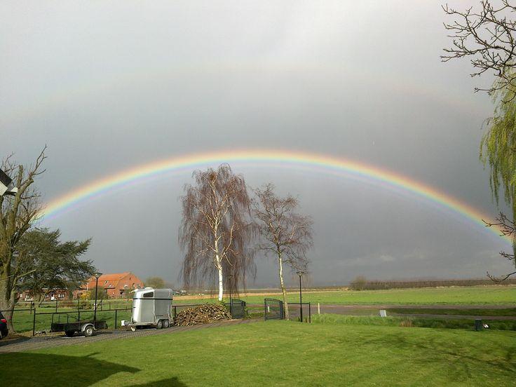 mooie regenboog in Clinge (Zeeland)