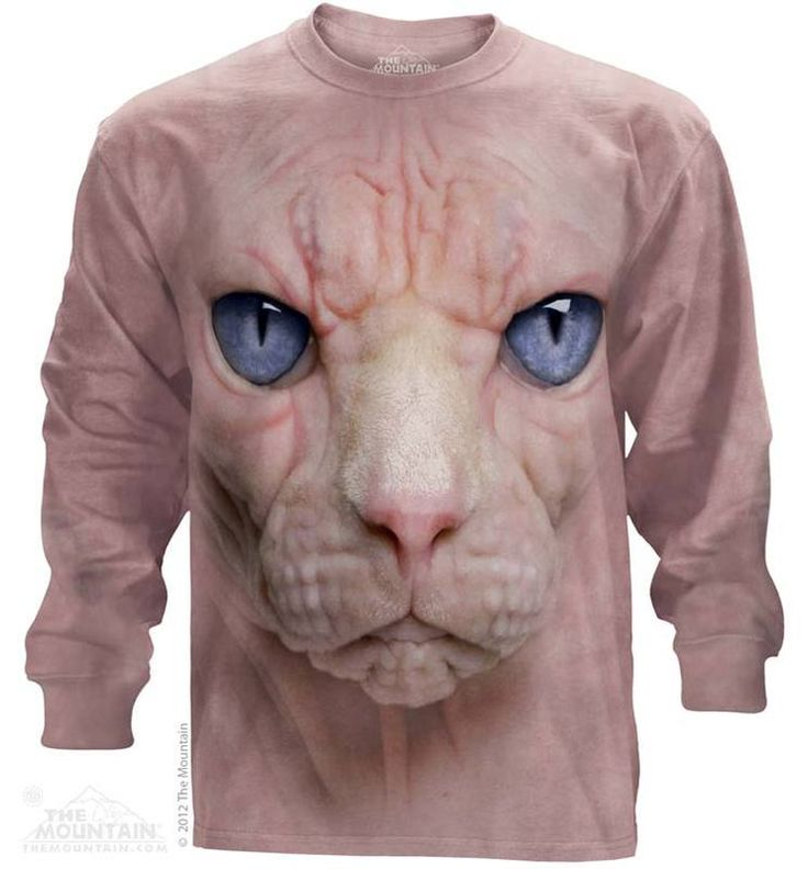 Hairless Pussycat Long Sleeve T-Shirt - Womens Clothing - - Women T-Shirt - T-Shirts for women - Mens Clothing - Mens t-shirts - t-shirt for men - Unisex T-Shirts - Cotton T-Shirts - Long Sleeve T-Shirts - Long Sleeve T-Shirt - Christmas Ideas - Presents for Christmas
