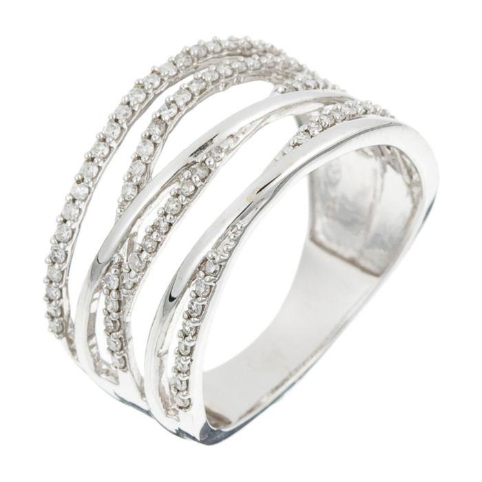 White gold criss cross ring with diamonds 0 33 ct diamanta2 1058965