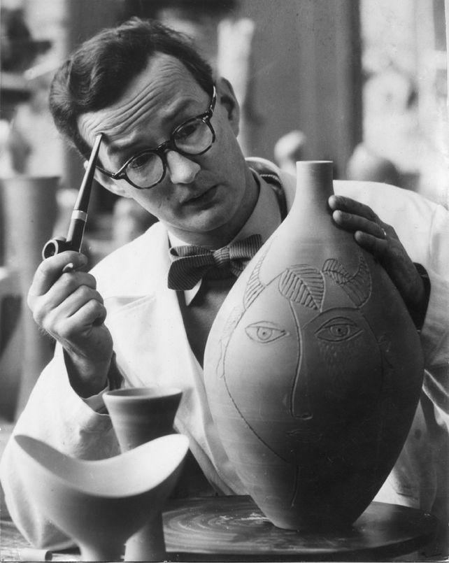 Stig Lindberg, Swedish ceramic designer, glass designer, textile designer, industrial designer, painter, and illustrator.