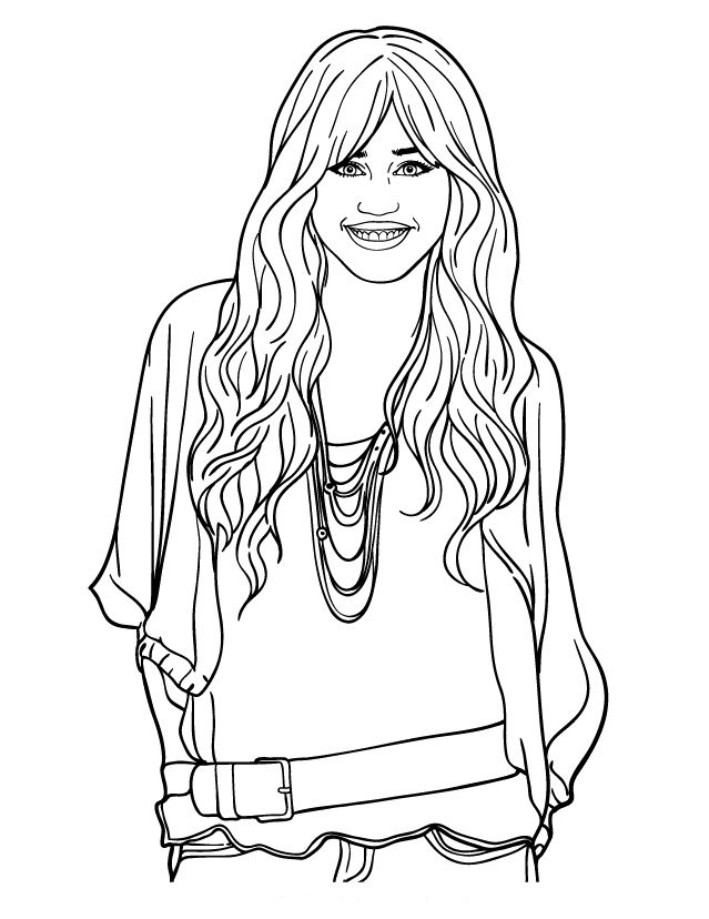 hannah montana coloring pages # 1