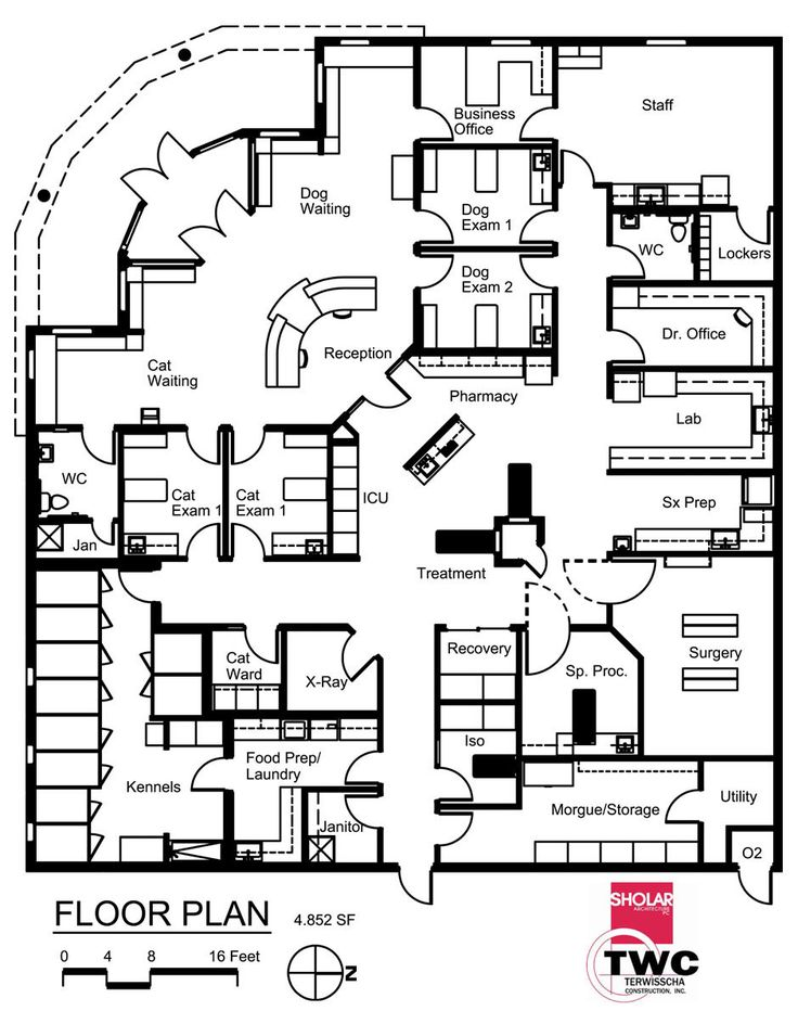 Veterinary floor plan: All Pets Medical Center