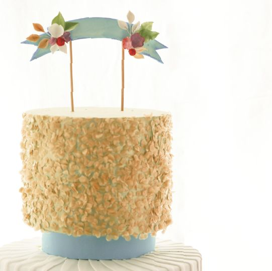 Make Your Own Wedding Topper: Learn To Make Your Own Fondant Floral Banner To Use As A