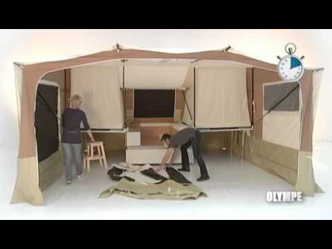 Wow!!! I want! Short video showing Triganos largest family trailer tent, the Olympe