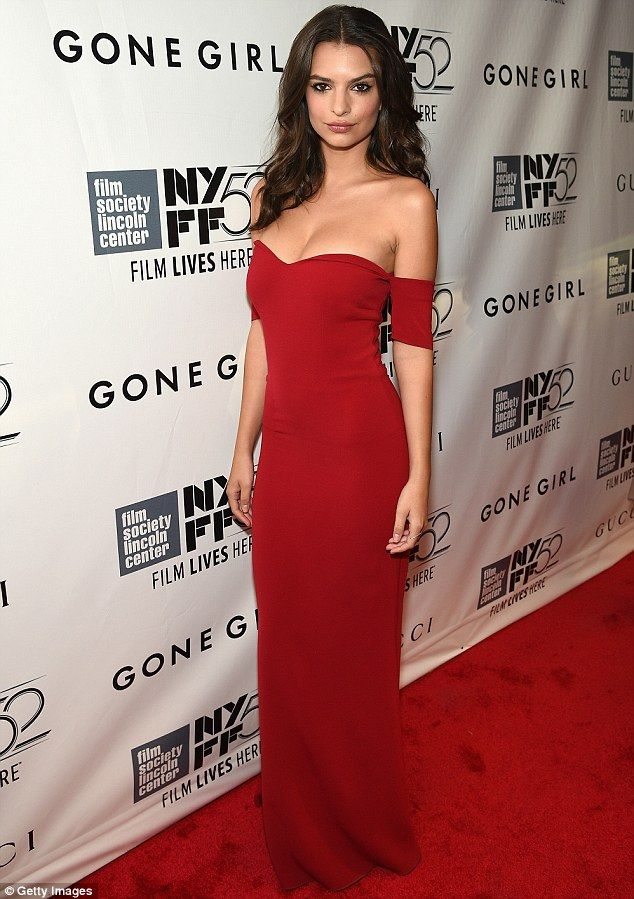 Flawless: The Gone Girl actress highlighted her fine features with a dusting of blush and ...
