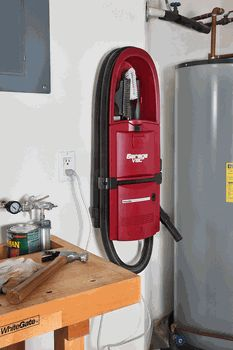 Designed with the garage in mind, this Surface Mounted Garage Vacuum w/ Accessories helps you organize your space and gives you all the tools you need to kee