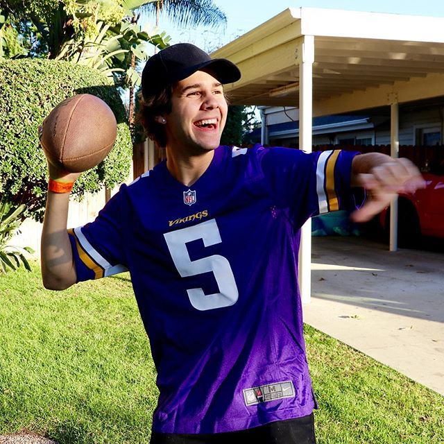 Had to take a picture as soon as I figured out how to hold a football! You can stream tonight's Thursday Night Football game live on Twitter instead of your tv! Which is great because Alex broke our tv again last night! Go to my Twitter profile to watch! @DavidDobrik #TeamTwitter