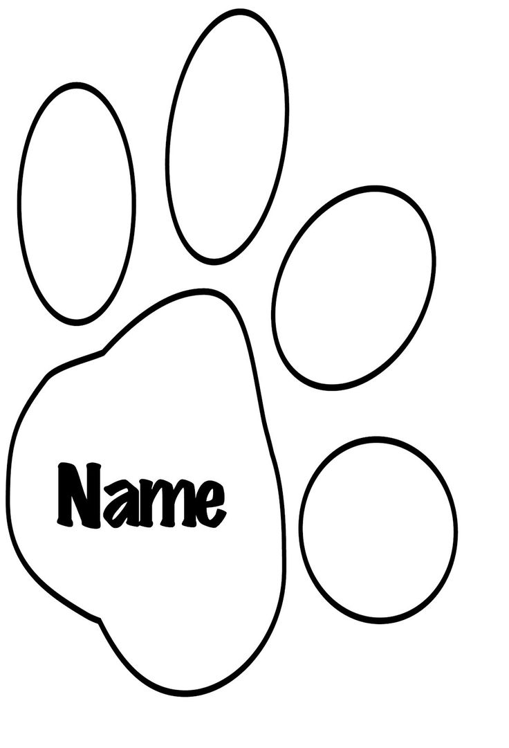 Bear Paw Print Coloring Page - youngandtae.com  Bear paw print