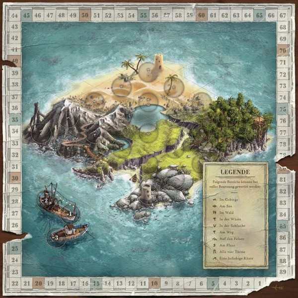I always wanted to design my own board game! Die Insel-Expedition — board game design by Markus Günther, via Behance