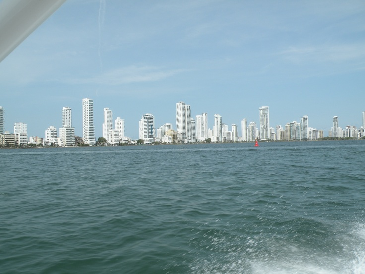 Heading out in the Caribbean from Cartegena, Colombia.