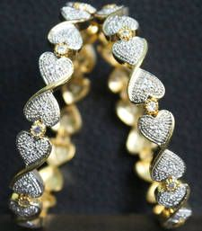 Buy Gold Plated Full Diamond work Designer Bangles bangles-and-bracelet online