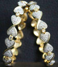 Buy Gold Plated Full Diamond work Designer Bangles bangles-and-bracelet online
