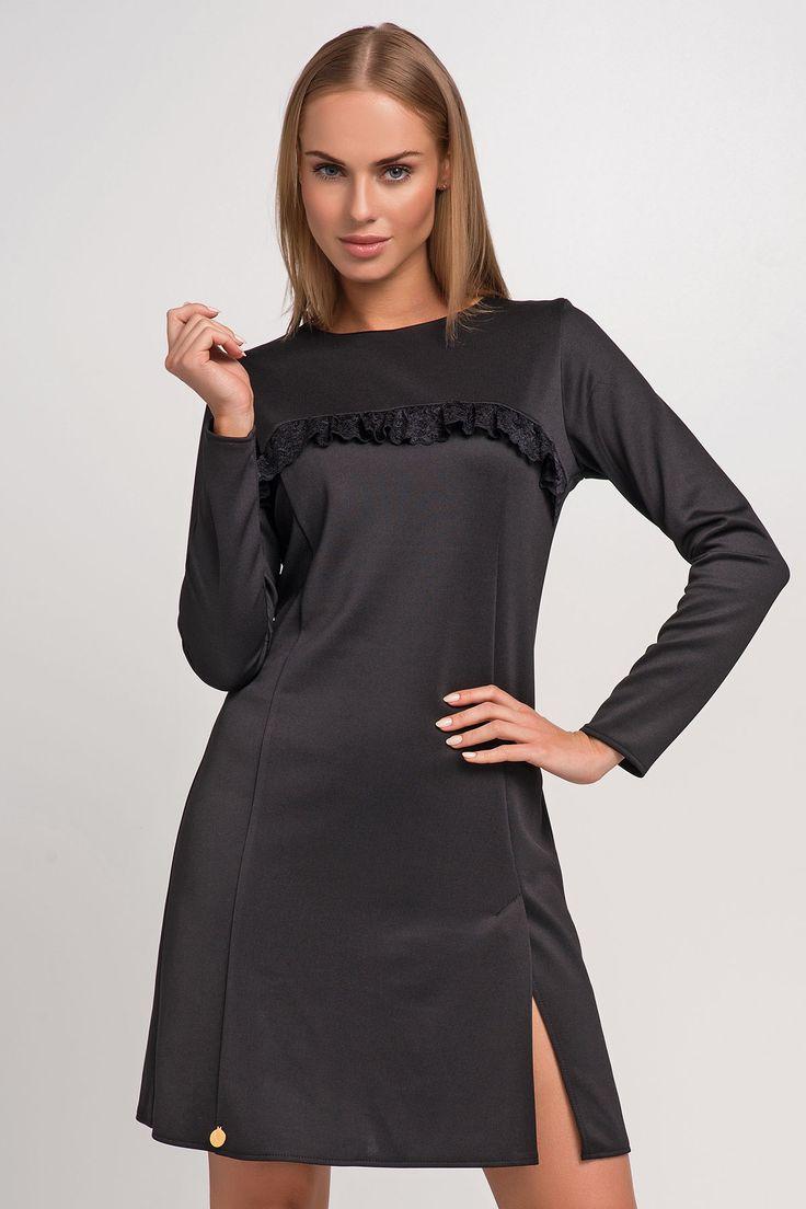 Makadamia M245 Sukienka - czarny
