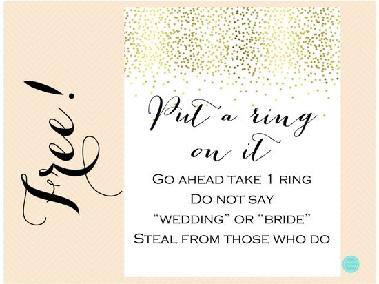 image about Put a Ring on It Bridal Shower Game Free Printable named Free of charge Spot A Ring Upon It Bridal Shower Recreation Bridal shower