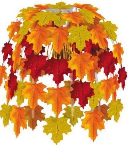Красивые поделки из листьев.