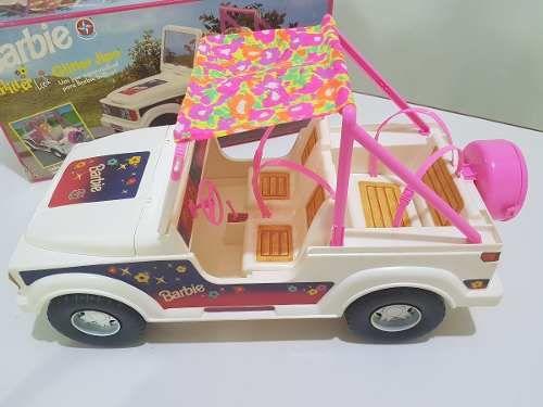 jipe barbie glitter original estrela anos 80 90 colecionador