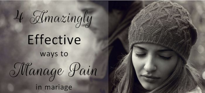 There are constructive ways to deal with conflict and manage emotional pain as a wife, and then there are destructive ways.  I've chosen the destructive path a time or two (or three!) as a wife, and if there's one thing I've learned, it's that effective pain management is key to having a satisfying marriage.   Early on [...]