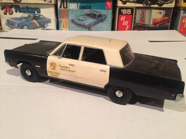 Old Dodge Trucks >> JO-HAN 1968 PLYMOUTH FURY POLICE CAR ORIGINAL BUILDER ...