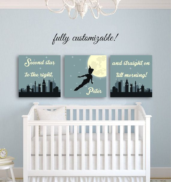 nursery wall art peter pan nursery dcor by