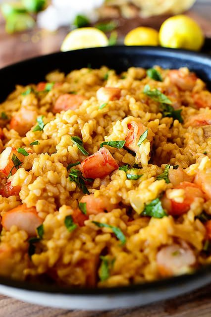 Lemon Basil Shrimp Risotto; could also adapt Ina Garten's baked risotto using these flavors and the shrimp
