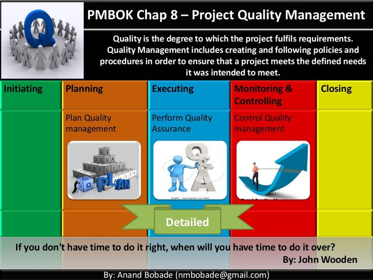 Pmp Chap   Project Quality Management By Anand Bobade Via