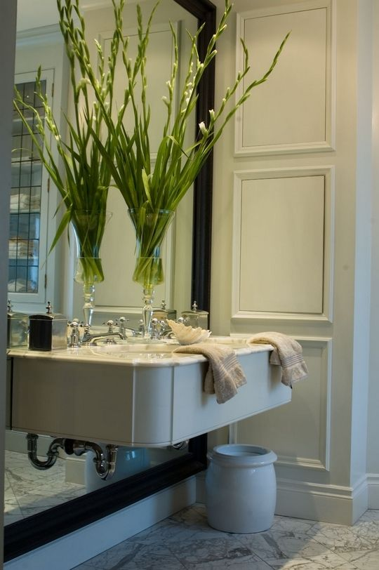 Panelled Bathroom Storage Inside Wall Home Projects Pinterest Mirror Large Mirrors And