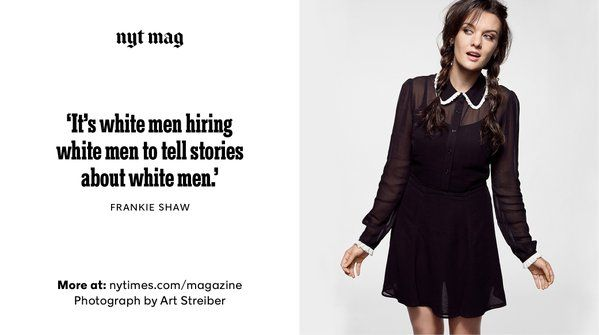Writer, director and actress Frankie Shaw on the cycle of white men in Hollywood